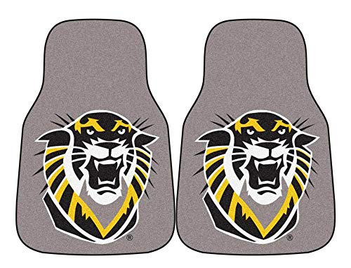 (Set of 2 NCAA Fort Hays State Tigers Car Mats w Plush Carpet)