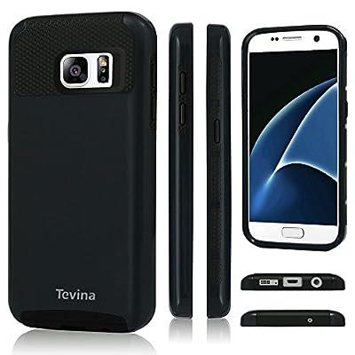 S7 Case,Galaxy S7 Case - Tevina 2 in 1 Design [Heavy Duty] Hard Plastic TPU Protective Case Bumper for Samsung Galaxy S7