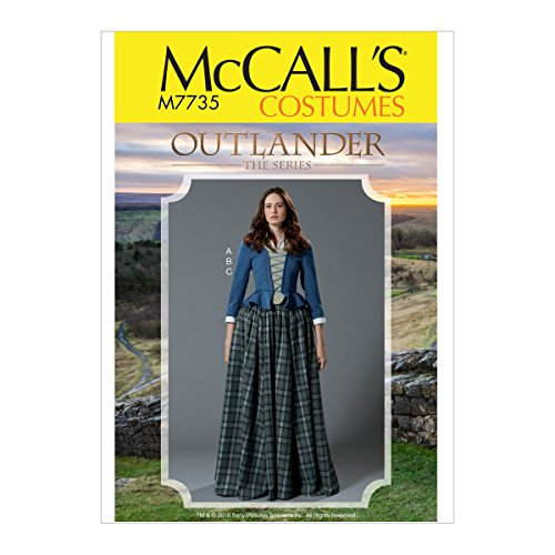 McCall's Patterns M7735A5 Women's Halloween Costume Outlander Cosplay Sewing Pattern, Sizes -