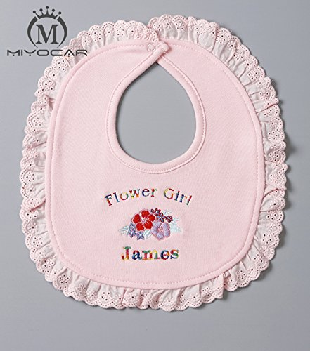 Personalized Baby girl pink Hat bibs set any name can make ideal gift for baby shower