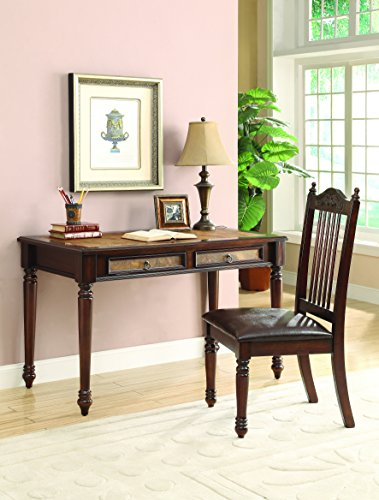 - Coaster Casual Merlot Executive Desk and Chair Set