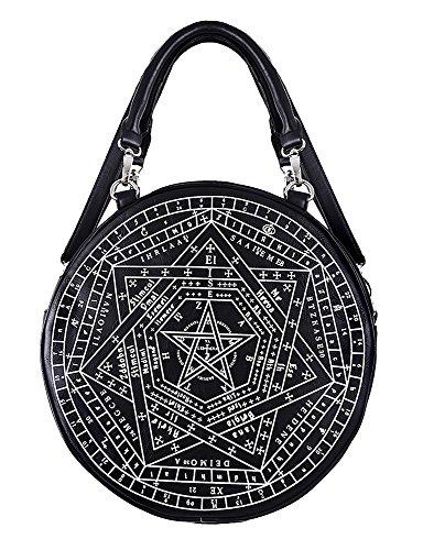 Sigillum Pagan Magic Imitation Gothique Witch Diagramme Noir Dei Sac Restyle Cuir Rond 7wXXqH