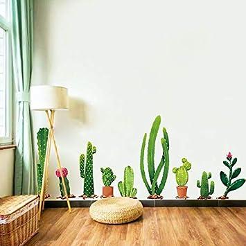 WJuan Pared Pegatinas Planta De Cactus Tv Sofá Fondo De Arte ...