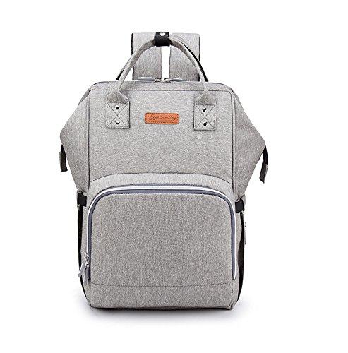 cc2fb47e71 Diaper bag – Mummy bag fashion shoulder Oxford cloth diaper bag travel bag  multi-function high-capacity baby bagUSB charging port anti-theft  design๏ผSmoke ...