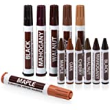 Ram-Pro Total Furniture Repair System - 12Pc Scratch Restore & Repair Touch-Up Marker Kit