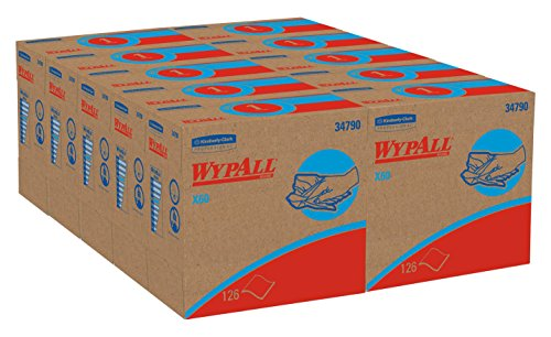 WypAll 34790CT X60 Wipers, POP-UP Box, White, 9 1/8 x 16 7/8, Box of 126 (Case of 10 Boxes)
