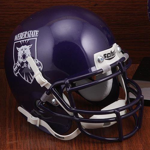 Schutt NCAA Mini Authentic XP Football Helmet, Weber State - Football Weber State