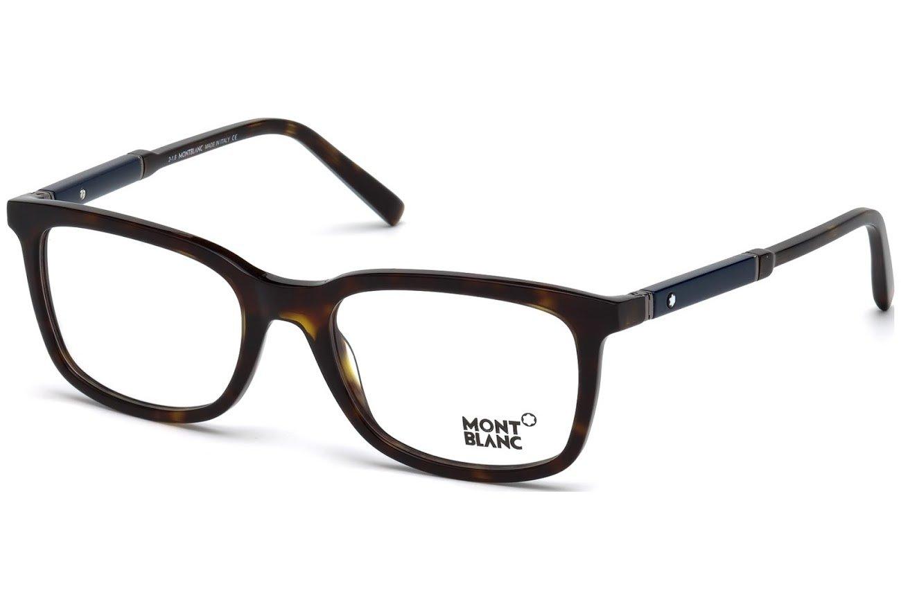 Mont Blanc MB0638 Eyeglass Frames - Dark Havana Frame, 54 mm Lens Diameter MB063854052