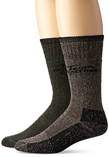 Team Realtree Men's Cotton Boot Socks (2-Pair), Olive/Brown, Large