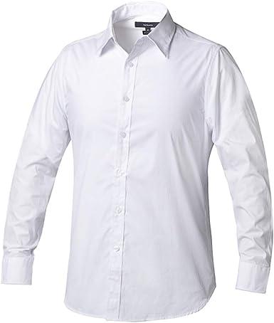 Camisa Algodón Premium Manga Larga Regular Fit Hombre P-16(S ...