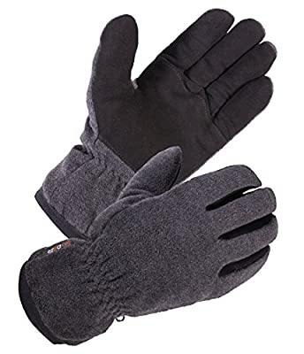 SKYDEER Winter Glove with Warm Deerskin Suede Leather and Thick Windproof Polar Fleece
