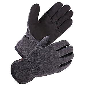 SKYDEER Winter Glove with Warm Deerskin Suede Leather and Thick Windproof Polar Fleece