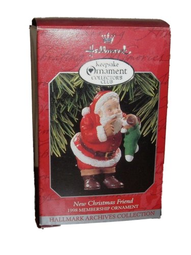 1998 Hallmark Keepsake Ornament Collector's Club-New Christmas Friend