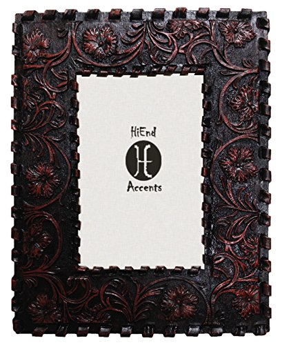 HiEnd Accents Westen Tooled Leather Frame, 8 by - Kitchen Pictures Western