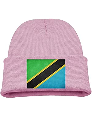 Flag Of Tanzania Kid's Hats Winter Funny Soft Knit Beanie Cap Children Unisex