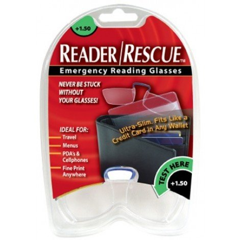 Reader/Rescue Emergency Reading Glasses, 1.50 (Reader Rescue)