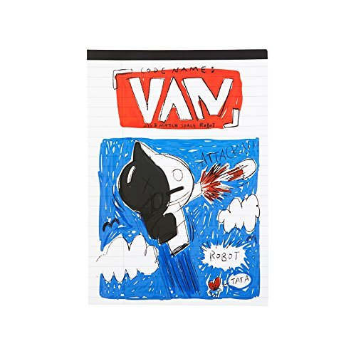 BT21 Van Notepad B5 One Size Black_White_Red