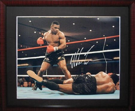 Mike Tyson Signed Mounted Memories Framed Photo-16x20