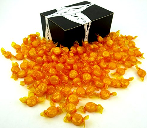 Colombina Butterscotch Buttons Hard Candy, 2 lb Bag in a BlackTie Box
