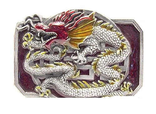 Siskiyou X - 85/S Pewter Belt Buckle- Oriental Dragon