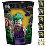 12 Count Lego Batman 16 oz Plastic Favor Cup