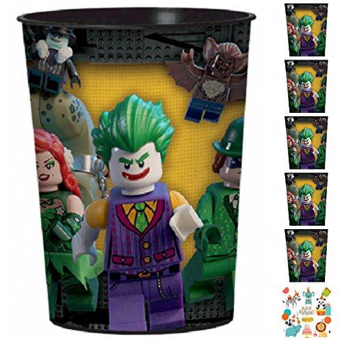 12 Count Lego Batman 16 oz Plastic Favor Cup