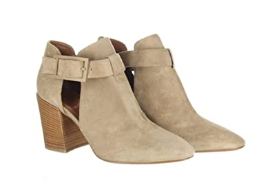 aad71b82ae59a Amazon.com | Aquatalia Suede Cutout Booties Tan Ankle Boots Sz. 10.5 ...