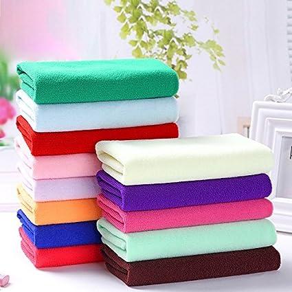 Toalla cuadrada de microfibra, toalla de limpieza, toalla pequeña, toalla para el sudor