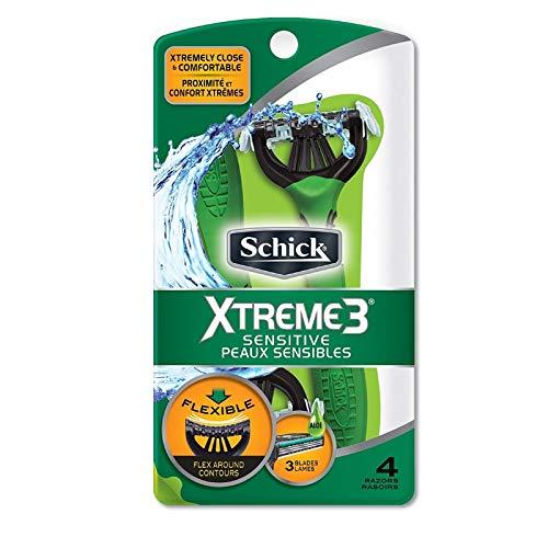 Schick Xtreme 3 Sensitive Peaux Sensibles Razors 4 ea (Pack of 7) by Schick