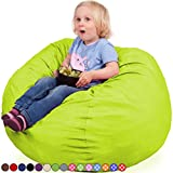 Oversized Bean Bag Chair in Spicy Lime – Machine Washable Big Soft Comfort Cover & Memory Foam Filler – Cozy Lounger & Bed – Kids & Teens Love This Huge Sack – Indoor Furniture By Panda Sleep