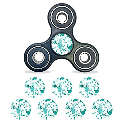 MightySkins Vinyl Decal Skin For Fidget Spinner Center Cap – Teal Splatter | Protective Sticker Wrap For Your Fidget toy Bearing Cap | Easy To Apply Cover - Paint Splatter Cap