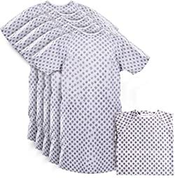 Hospital Gown - Patient Gowns Fits All Sizes Up To 2XL - Back Tie - Pack of 6
