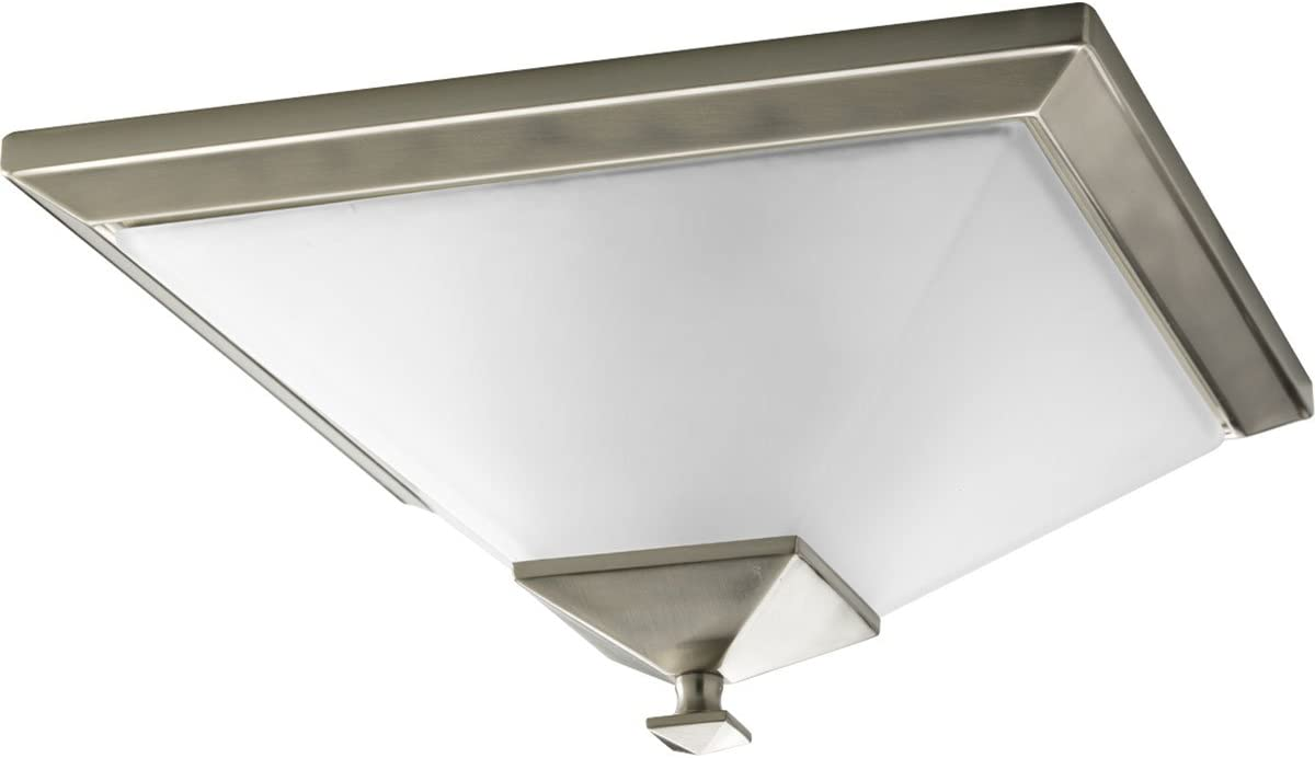 Progress Lighting P3852-09 Clifton Heights Close-to-Ceiling, 15-Inch Width x 7-1/8-Inch, Nickel