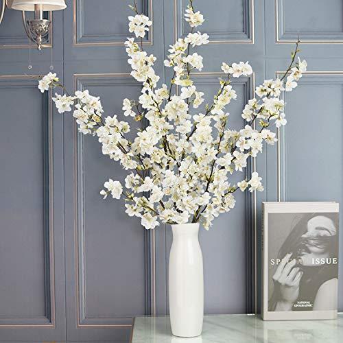 Shiny Flower 4PCS Artificial Cherry Blossom Flowers, Silk Peach Flowers Arrangements Tall Artificial Plant 42.9