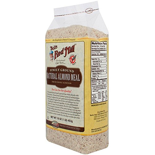 Bob's Red Mill Gluten Free Super-Fine Natural Almond Flour, 16 oz (Pack of 4)