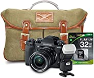 Fujifilm X-T3 Cámara XF18-55 mm, Flash EF-X500 con Tarjeta SDHC 32GB UHS-II y Maleta, Negro