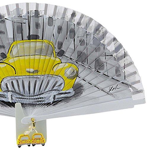 Vintage Blanco Amarillo Coche Aire Ventilador Blanco Distinto HqzZ44