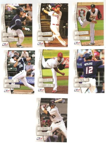 2011-Texas-League-Top-Prospect-Mike-trout-Minor-league-card-in-a-one-touch-magnet-case