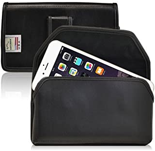 product image for Turtleback Holster Made for Applie iPhone 6 Plus (5.5 in.) Black Belt Case Leather Pouch with Executive Belt Clip Horizontal Made in USA