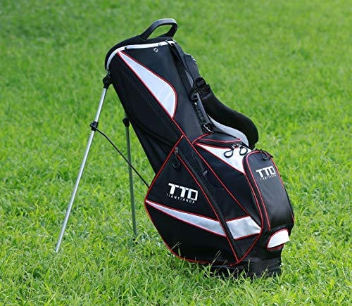 Super Light-Weight Golf Stand Bag for Easy Carry, Black (Golf Carry Bag Stand With)
