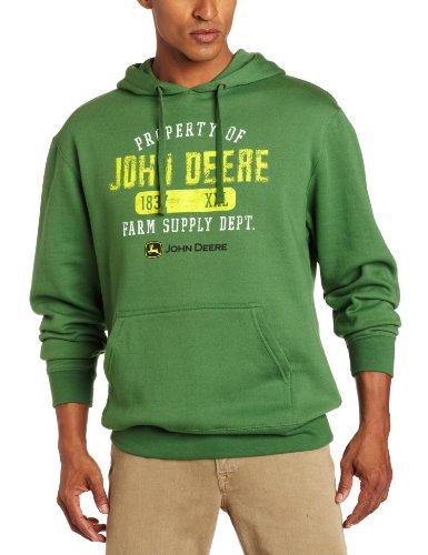 John Deere 'Property of John Deere' Fleece Hoodie - Men's -John Deere Green, Large