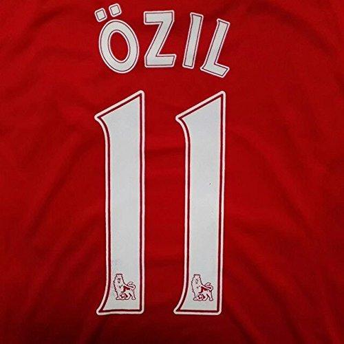 分析的ベッド反対大人用 A006 アーセナルHOME OZIL*11 エジル 2014 赤 ゲームシャツ パンツ付
