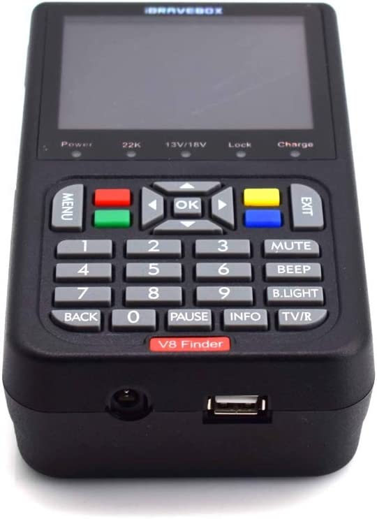 Finder Digital Planet Sign Finder Meter Black 3.5 Inch LCD Color Screen Rcsbtd Support DVB Compliant /& Bouncy FTA