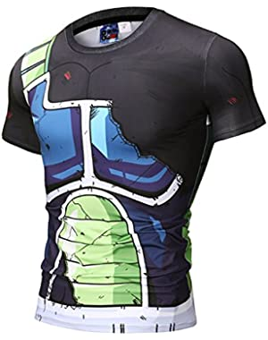 Unisex 3D Cartoon Print-Work Out Compression Muscle T-Shirt