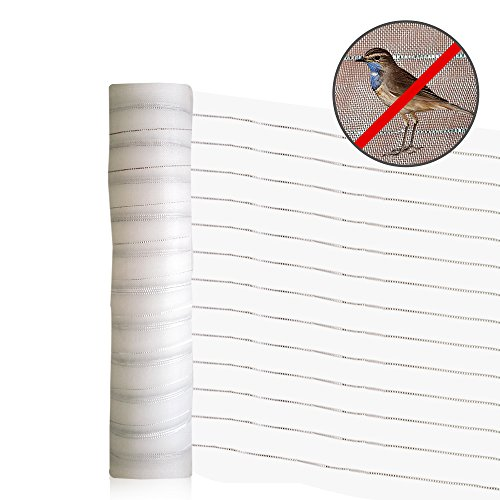 Agfabric New Effective Pest Control Netting 2 Functions Insect-Bird Garden Netting with Silver Thread for Bird Repellent Bird Barrier 10'x10' White