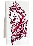 MERMAID - peace love harmony faith nautical - Farm Flour Sack Kitchen Tea Towel