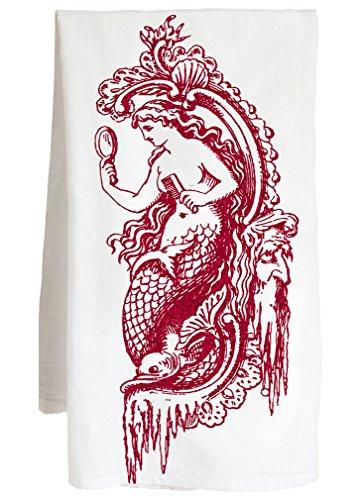 MERMAID - peace love harmony faith nautical - Farm Flour Sack Kitchen Tea Towel by Live Nice