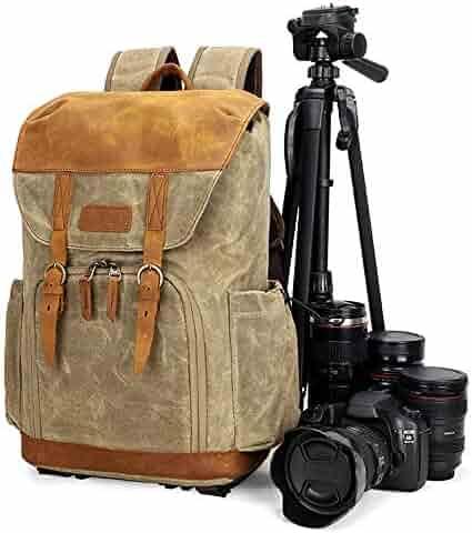 Color : Black, Size : Free Size JIANGXIUQIN Backpack for Men Mens Canvas Backpack Bookbag Rucksack for Student Short Hike Travel Daypack for College Travel Hiking