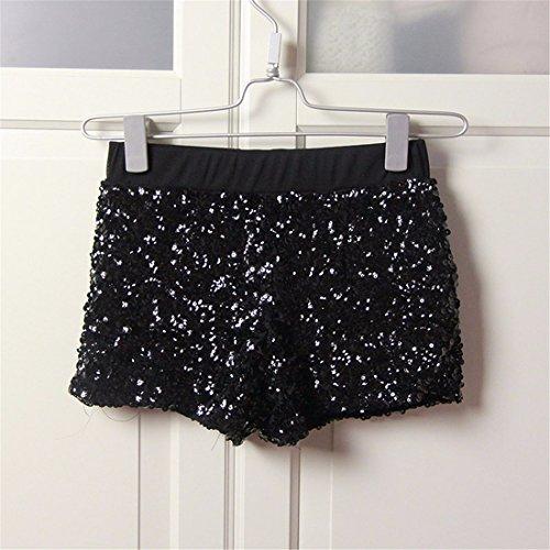 en Cintura moichien Short Mujeres Wrap Jazz Negro Dance Sexy Lentejuelas Pantalones baja Fiesta la calientes Ai calle Ffzx7qww