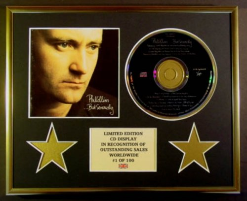 PHIL COLLINS//CD DISPLAY//LIMITED EDITION//COA//.BUT SERIOUSLY